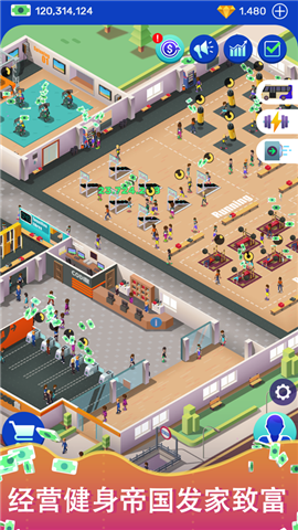 Idle Fitness Gym Tycoon Game手游